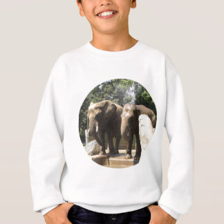 Pair of Elephants Kid's Sweatshirt