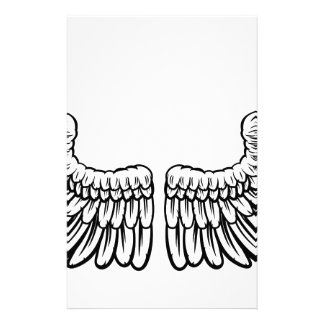 Pair of Etched Wings Personalized Stationery