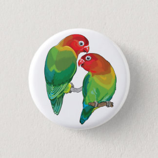 "pair of fischer""s lovebirds 3 cm round badge"