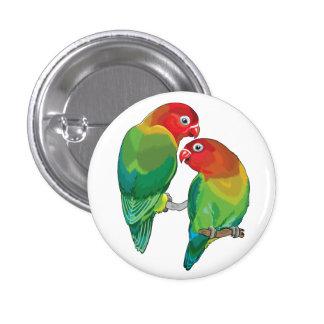"""pair of fischer""""s lovebirds 3 cm round badge"""