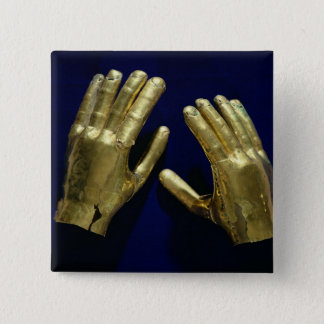 Pair of funerary hands, from Peru, c.200-c.800 15 Cm Square Badge