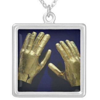 Pair of funerary hands, from Peru, c.200-c.800 Silver Plated Necklace