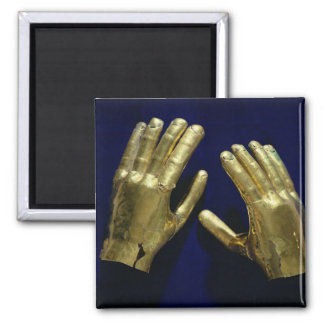 Pair of funerary hands, from Peru, c.200-c.800 Square Magnet