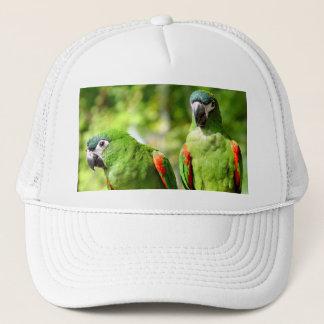 Pair of Green Parrots Hat