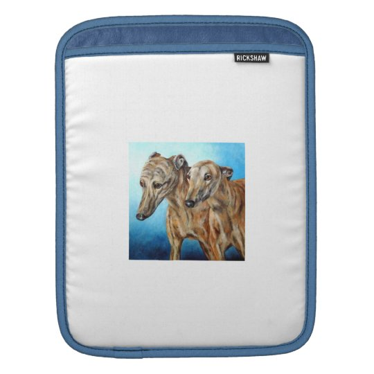 Pair of Greyhounds Rickshaw Sleeve iPad Sleeves