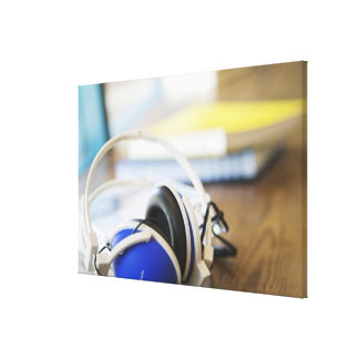Pair of Headphones Canvas Print