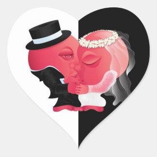 Pair of Hearts in Love - Wedding Sticker