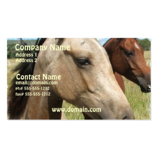 Pair of Horses Business Card