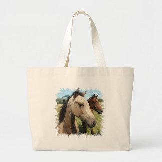 Pair of Horses Canvas Bag