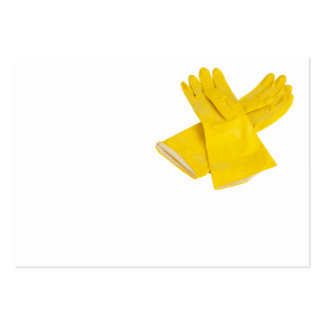 Pair of latex gloves business cards