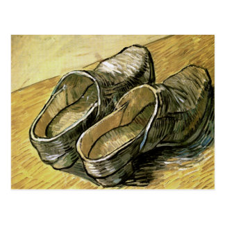 Pair of Leather Clogs Van Gogh Fine Art Postcard