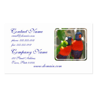 Pair of Lorikeets Business Cards