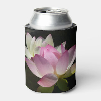 Pair of Lotus Flowers II Can Cooler