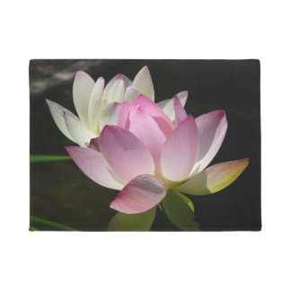 Pair of Lotus Flowers II Doormat