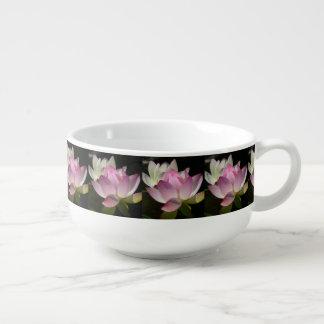 Pair of Lotus Flowers II Soup Mug
