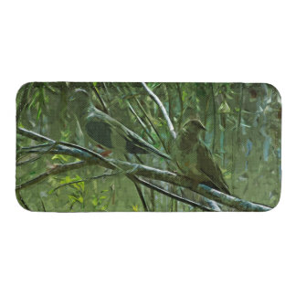 Pair of Mourning Doves Abstract Impressionism
