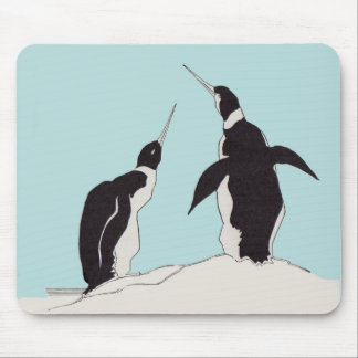 pair of penguins mouse pad