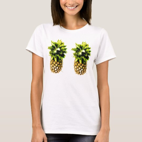 Pair of Perky Pineapples Light Coloured T-shirt