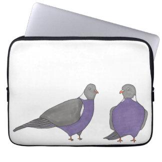 Pair of Pigeons Laptop Sleeve