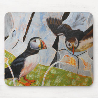 Pair of Puffins Mousemat