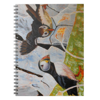 Pair of Puffins Phot Notebook