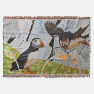 Pair of Puffins Throw