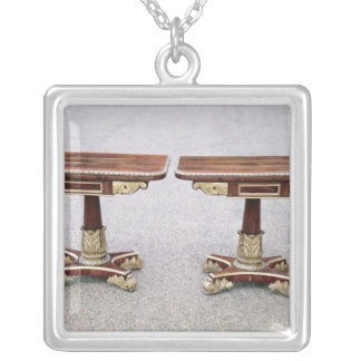 Pair of Regency card tables on quadruple bases Silver Plated Necklace