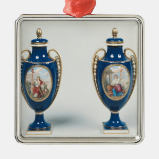 Pair of Sevres vases decorated with allegorical Christmas Ornament