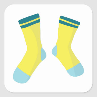 Pair Of Socks Square Sticker