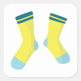 Pair Of Socks Square Sticker