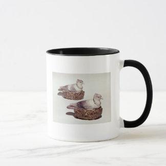Pair of Staffordshire pottery tureens Mug