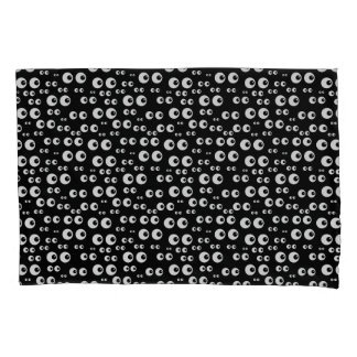 Pair of Standard Black Pillowcase w/funny eyes
