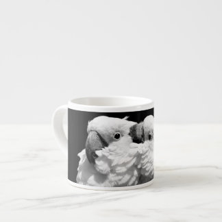 Pair of umbrella cockatoos espresso cup