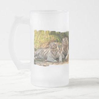 Pair of White Tigers Frosted Mug
