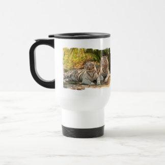 Pair of White Tigers Travel Mug