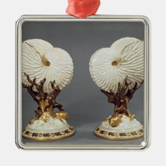 Pair of Worcester vases shaped as Nautilus Christmas Ornament