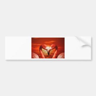 pair romantic couple date wing bird birds flamingo bumper sticker