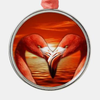 pair romantic couple date wing bird birds flamingo christmas ornament