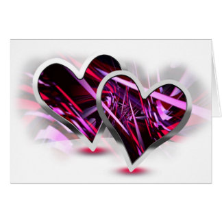 Paired Hearts 13 Greeting Card