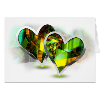 Paired Hearts 14 Greeting Card
