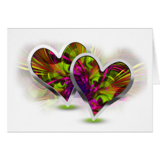 Paired Hearts 15 Greeting Card