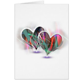 Paired Hearts 16 Greeting Card