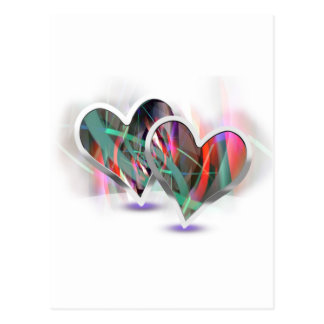 Paired Hearts 16 Postcard
