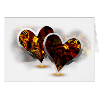 Paired Hearts 17 Greeting Card