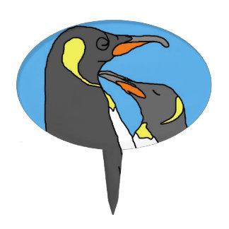 Paired King Penguin Cake Picks