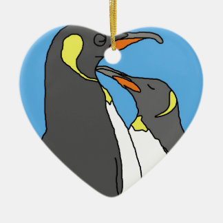 Paired King Penguin Christmas Ornament