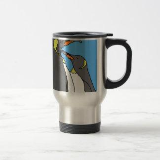 Paired King Penguin Travel Mug