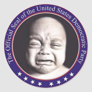 Pairity sticker, Democratic Cry babies Party Seal