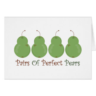 Pairs of Perfect Pears Card