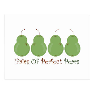 Pairs of Perfect Pears Postcard